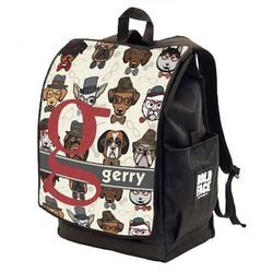 Hipster Dogs Backpack w/ Front Flap  (Personalized)