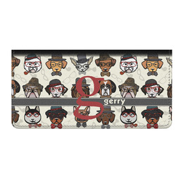 Hipster Dogs Genuine Leather Checkbook Cover (Personalized)