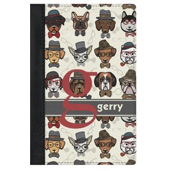 Hipster Dogs Genuine Leather Passport Cover (Personalized)