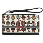 Hipster Dogs Genuine Leather Smartphone Wrist Wallet (Personalized)