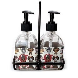 Hipster Dogs Glass Soap & Lotion Bottles (Personalized)