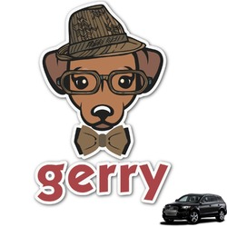 Hipster Dogs Graphic Car Decal (Personalized)