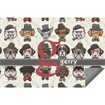 Hipster Dogs Indoor / Outdoor Rug (Personalized)