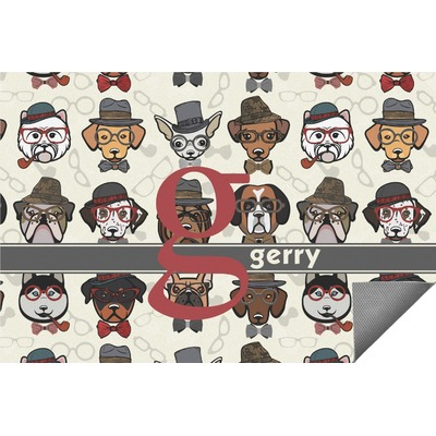 Hipster Dogs Indoor / Outdoor Rug - 3'x5' (Personalized)