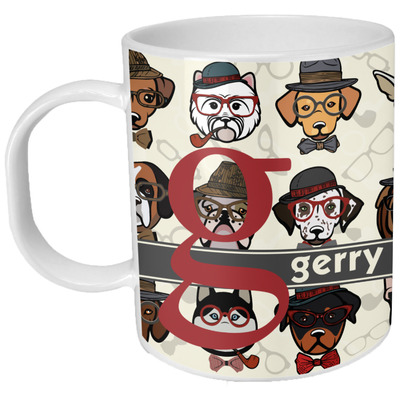 Hipster Dogs Plastic Kids Mug (Personalized)