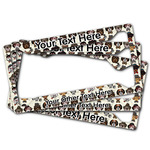 Hipster Dogs License Plate Frame (Personalized)