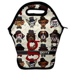 Hipster Dogs Lunch Bag w/ Name and Initial