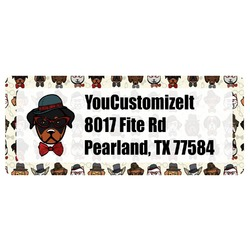 Hipster Dogs Return Address Labels (Personalized)