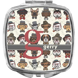 Hipster Dogs Compact Makeup Mirror (Personalized)