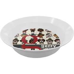 Hipster Dogs Melamine Bowl (Personalized)