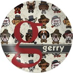 Hipster Dogs Melamine Plate (Personalized)
