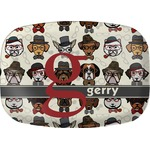 Hipster Dogs Melamine Platter (Personalized)