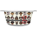 Hipster Dogs Stainless Steel Dog Bowl (Personalized)