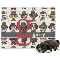 Hipster Dogs Minky Dog Blanket (Personalized)