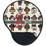 Hipster Dogs Mouse Pad with Wrist Support
