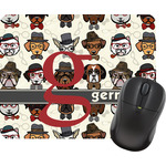 Hipster Dogs Rectangular Mouse Pad (Personalized)