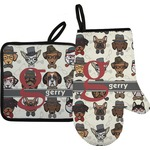 Hipster Dogs Oven Mitt & Pot Holder (Personalized)