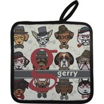 Hipster Dogs Pot Holder (Personalized)