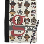 Hipster Dogs Notebook Padfolio (Personalized)