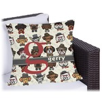 Hipster Dogs Outdoor Pillow (Personalized)