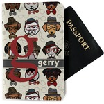 Hipster Dogs Passport Holder - Fabric (Personalized)