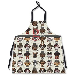 Hipster Dogs Apron Without Pockets w/ Name and Initial