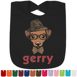 Hipster Dogs Bib - Select Color (Personalized)