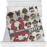 Hipster Dogs Minky Blanket (Personalized)