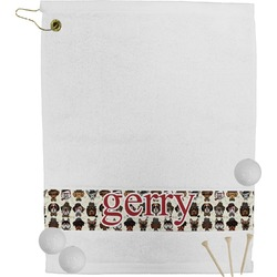 Hipster Dogs Golf Towel (Personalized)