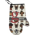 Hipster Dogs Right Oven Mitt (Personalized)