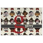 Hipster Dogs Placemat (Laminated) (Personalized)