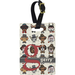 Hipster Dogs Rectangular Luggage Tag (Personalized)
