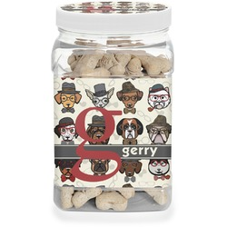 Hipster Dogs Dog Treat Jar (Personalized)