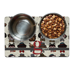Hipster Dogs Dog Food Mat (Personalized)