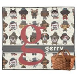 Hipster Dogs Outdoor Picnic Blanket (Personalized)