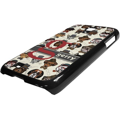 Hipster Dogs Plastic Samsung Galaxy 4 Phone Case (Personalized)