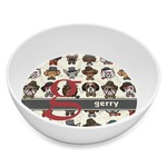 Hipster Dogs Melamine Bowl 8oz (Personalized)