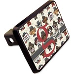 """Hipster Dogs Rectangular Trailer Hitch Cover - 2"""" (Personalized)"""