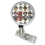 Hipster Dogs Retractable Badge Reel (Personalized)