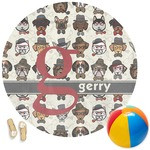 Hipster Dogs Round Beach Towel (Personalized)