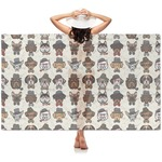 Hipster Dogs Sheer Sarong (Personalized)