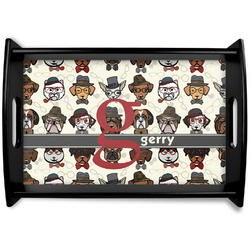 Hipster Dogs Wooden Trays (Personalized)