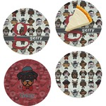 Hipster Dogs Set of Appetizer / Dessert Plates (Personalized)