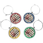 Hipster Dogs Wine Charms (Set of 4) (Personalized)