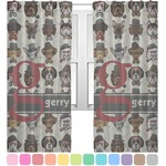 Hipster Dogs Sheer Curtains (Personalized)