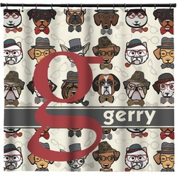 Hipster Dogs Shower Curtain (Personalized)