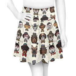 Hipster Dogs Skater Skirt (Personalized)