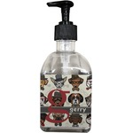 Hipster Dogs Soap/Lotion Dispenser (Glass) (Personalized)
