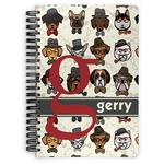 Hipster Dogs Spiral Bound Notebook (Personalized)