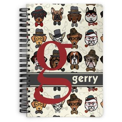 Hipster Dogs Spiral Bound Notebook - 7x10 (Personalized)